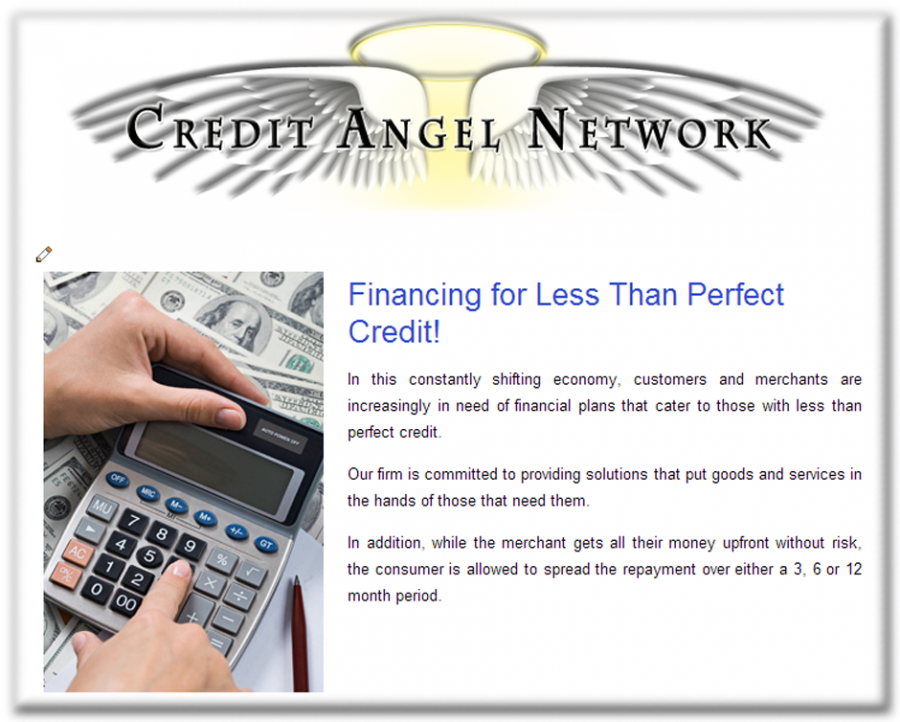 Credit Angel Network Website
