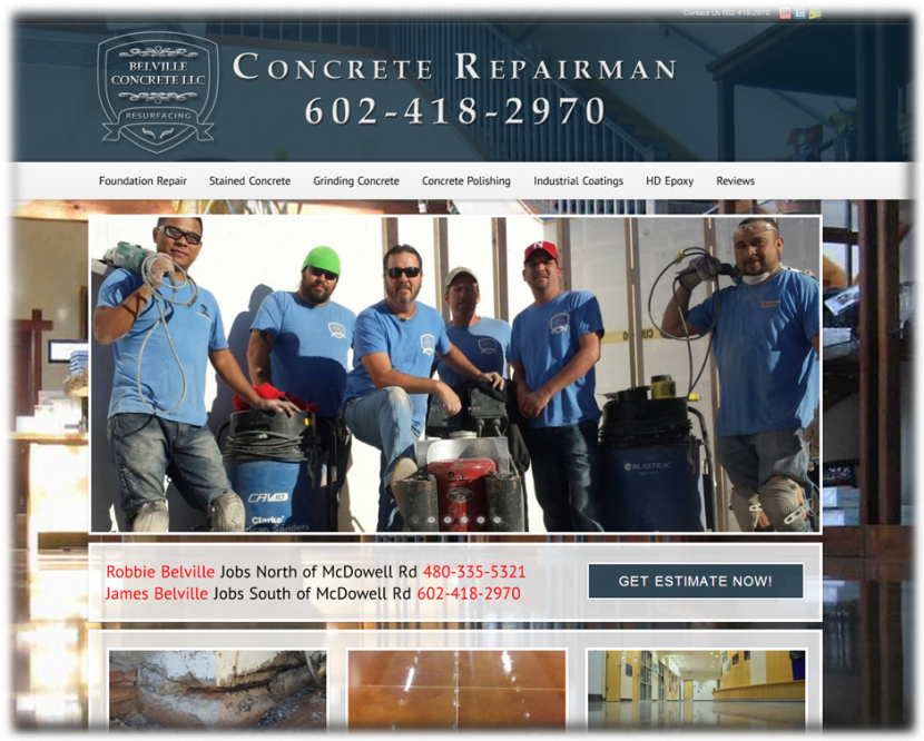Concrete Repairman Website