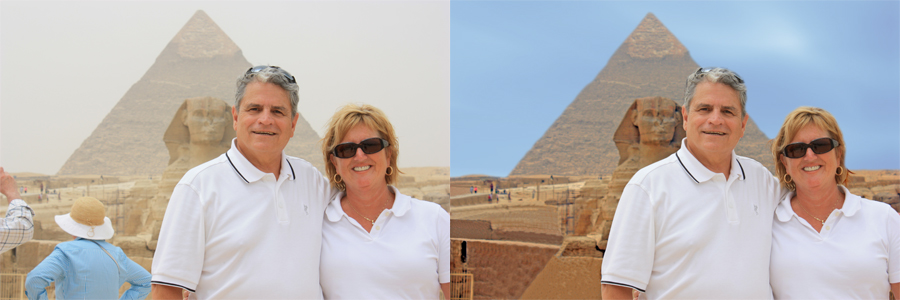 Digital Photography and Editing Egypt Before and After