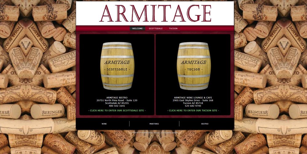 Armitage Bistro Arizona Joomla Website by Web Guy Arizona