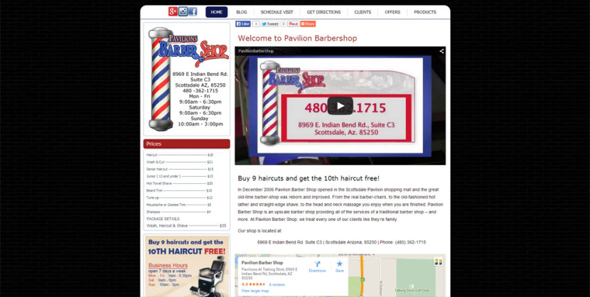 Barber Shop Web Site