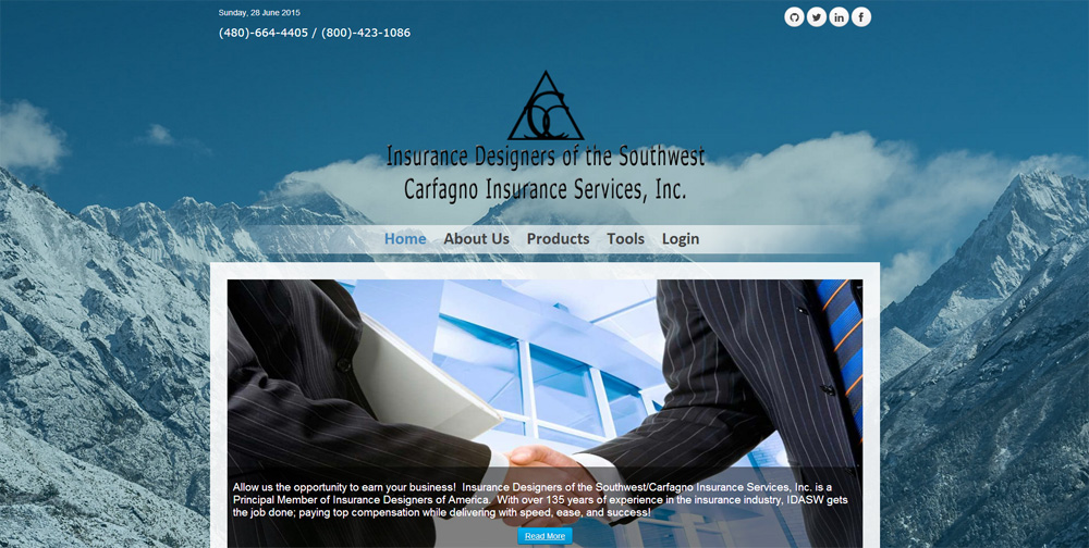 Carfagno Insurance Website