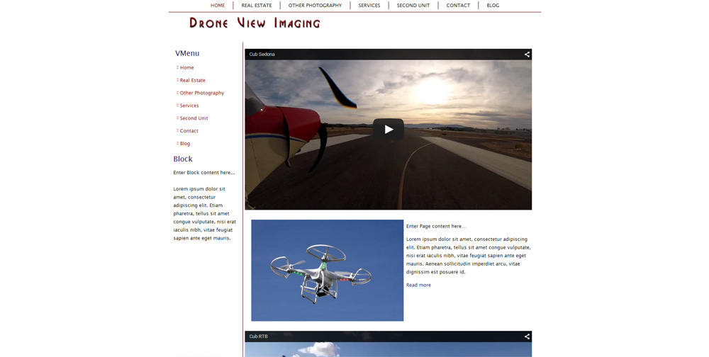 Drone View Website