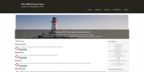 HRCI Prep Class Web Site