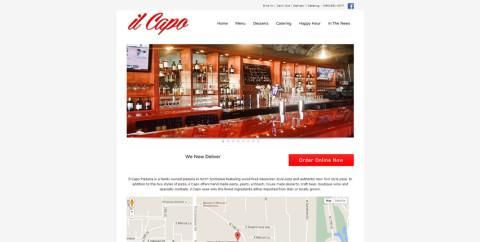 il Capo Pizza Web Site
