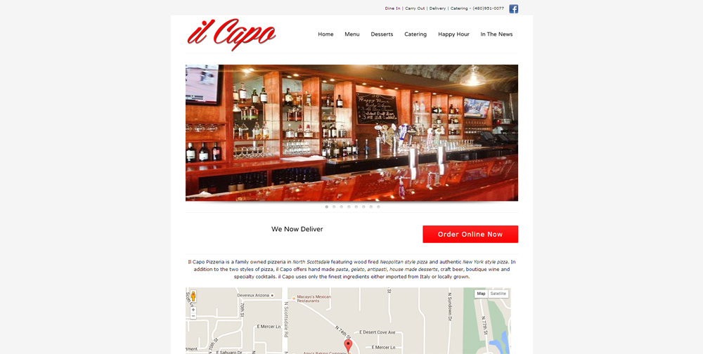 il Capo Pizza Website