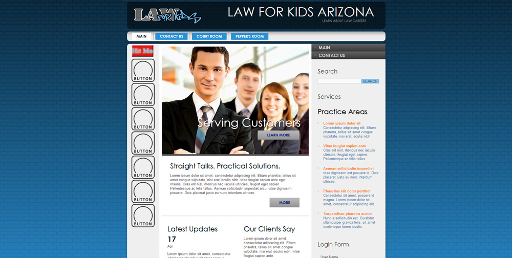 Law For kids Arizona Website
