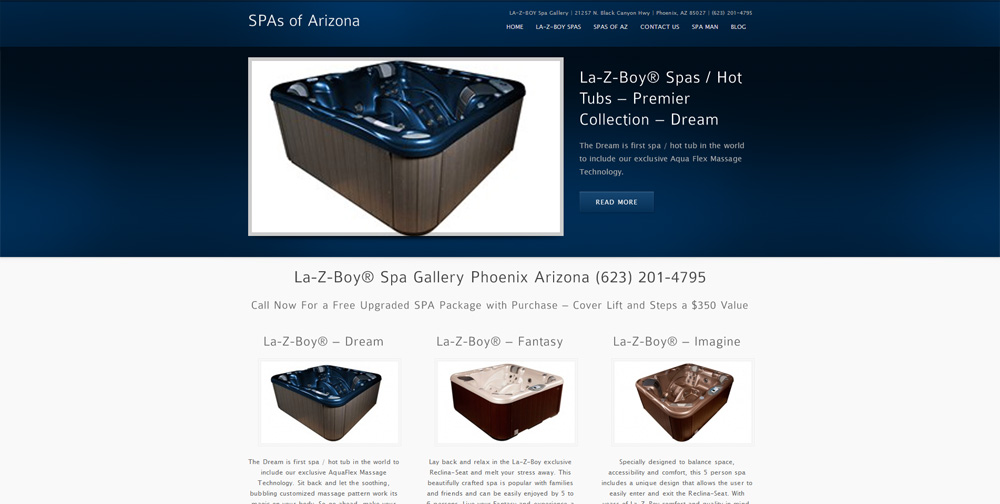 Lazy Boy WordPress Website by Web Guy Arizona