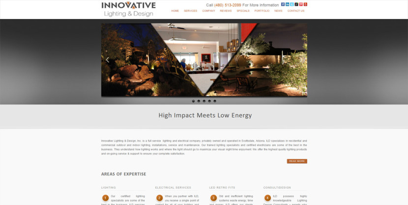 Arizona Lighting Web Site