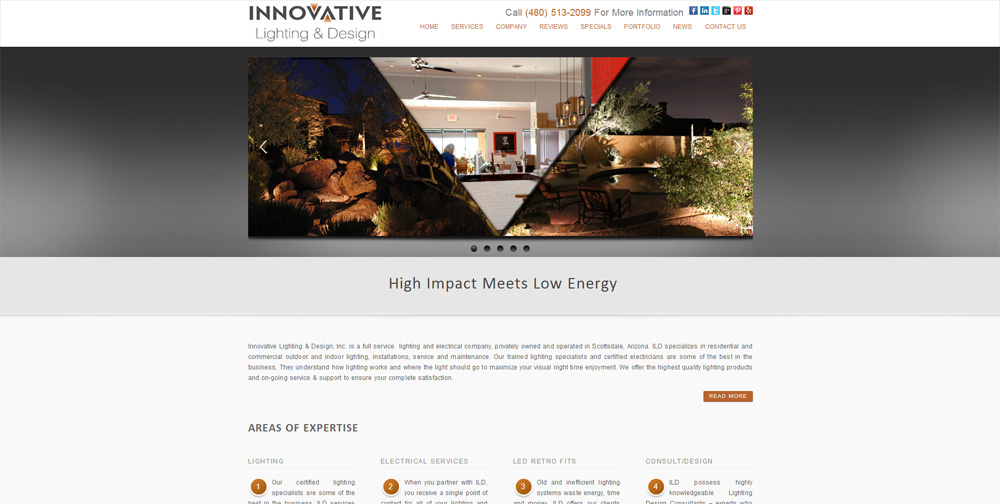 Arizona Lighting WordPress Website by Web Guy Arizona