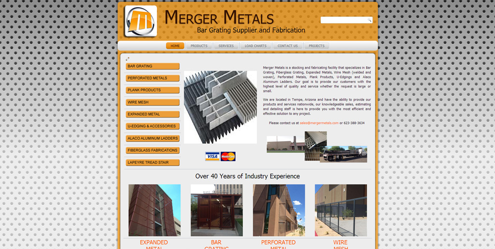 Merger Metals Joomla Website by Web Guy Arizona