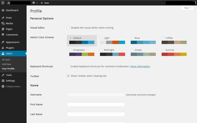 WordPress Users Your Profile