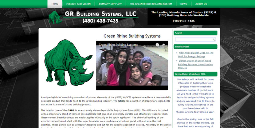 GR Building System Website