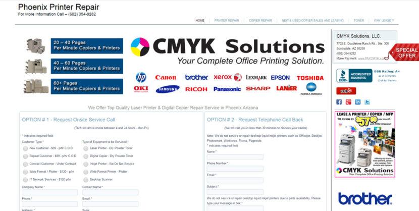 Phoenix Printer Repair Website