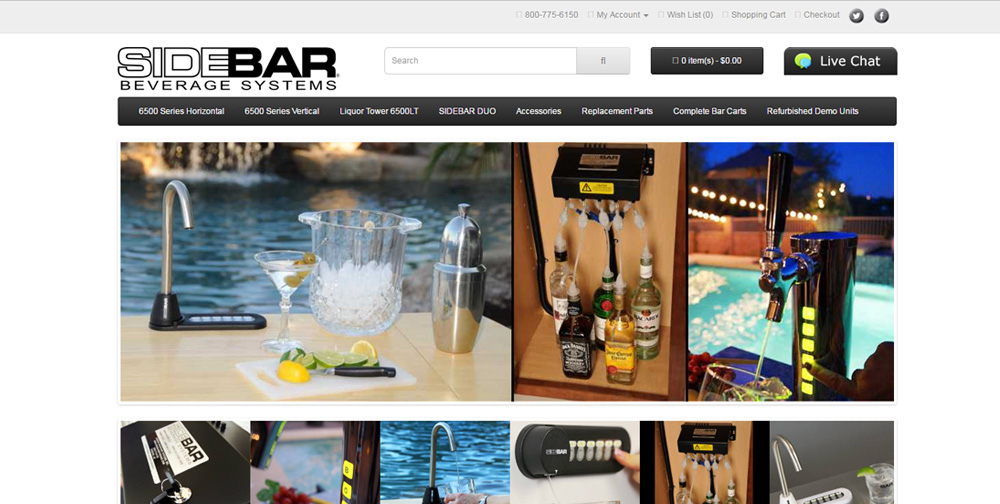 Sidebar Beverage Website