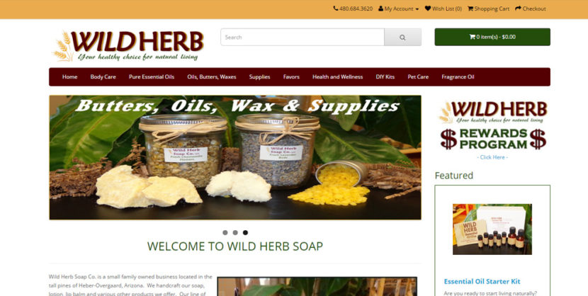 Wild Herb Soap Website