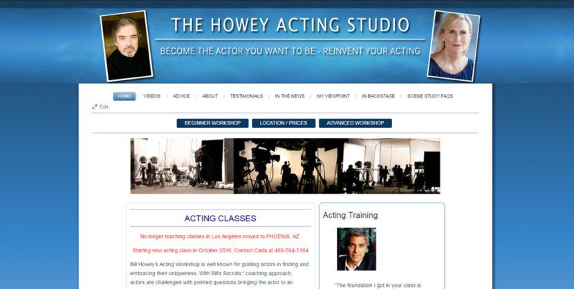 Bill Howey Acting Studio WordPress Website