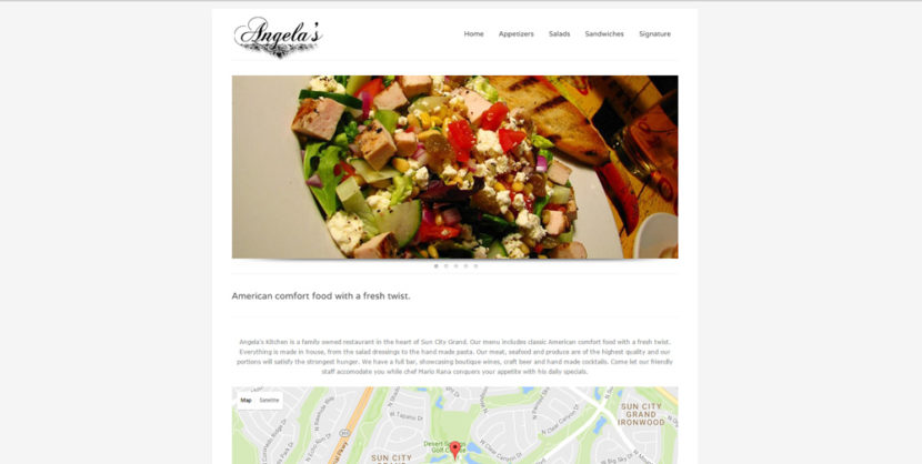 Angela's Grand Restaurant WordPress Website