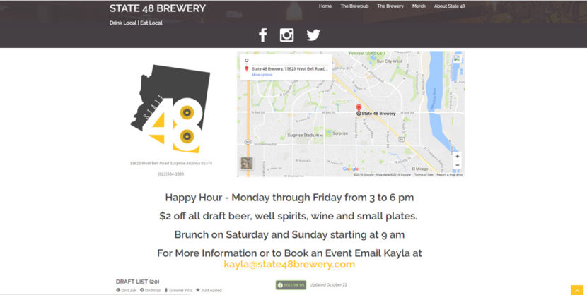 State 48 Brewery WordPress Website