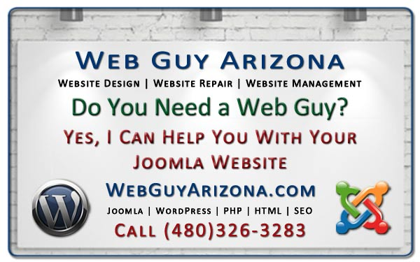 Yes, I Can Help You With Your Joomla Website