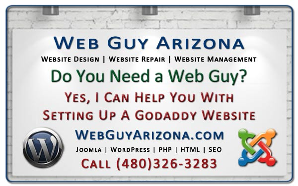 Yes, I Can Help You With Setting Up A GoDaddy Website
