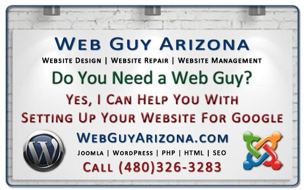 Yes, I Can Help You With Setting Up Your Website For Google