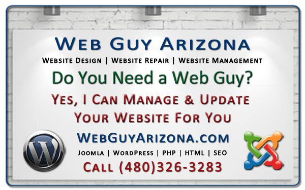 Yes, I Can Manage & Update Your Website For You