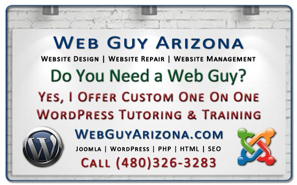 Yes, I Offer Custom One On One WordPress Tutoring & Training