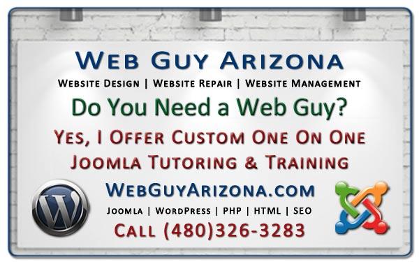Yes, I Offer Custom One On One Joomla Tutoring & Training