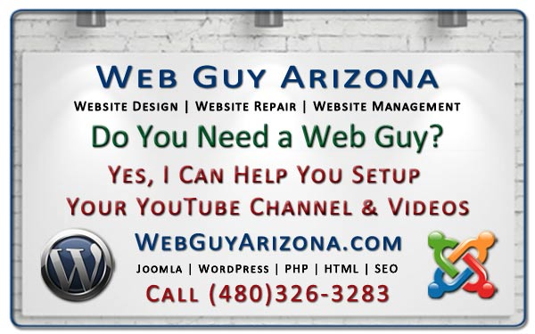 Yes, I Can Help You Setup Your YouTube Channel & Videos